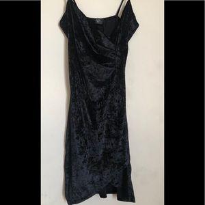 AX black velour dress size 12